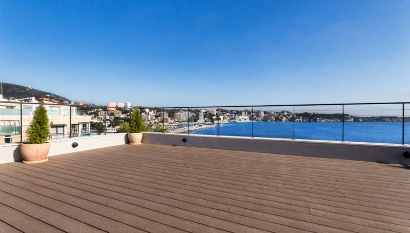 Modernes Duplex Penthouse mit Traummeerblick in Illetas