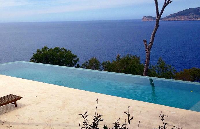 Moderne Meerblick Villa in Puerto Andratx zur Ferienmiete und Langzeitmiete