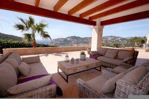 Mallorca Immobilien mit einer Porche - Terrassenüberdachung