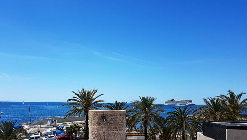 Tolles Meerblick-Atico in Palma:Portixol zur Langzeitmiete